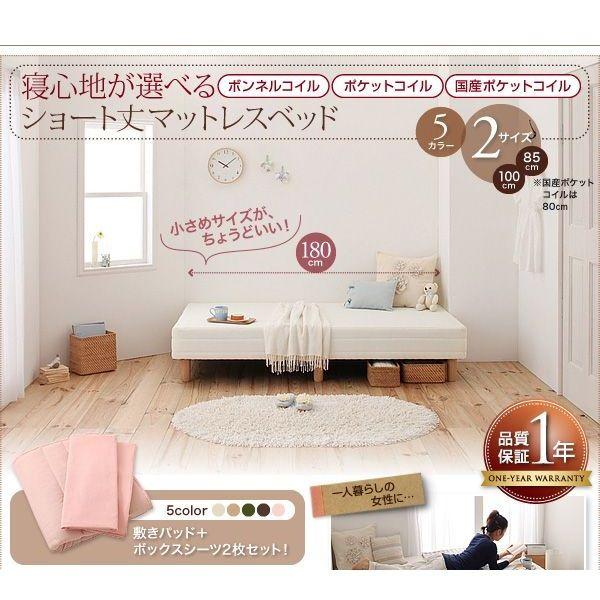 新・ショート丈ポケットコイルマットレスベッド