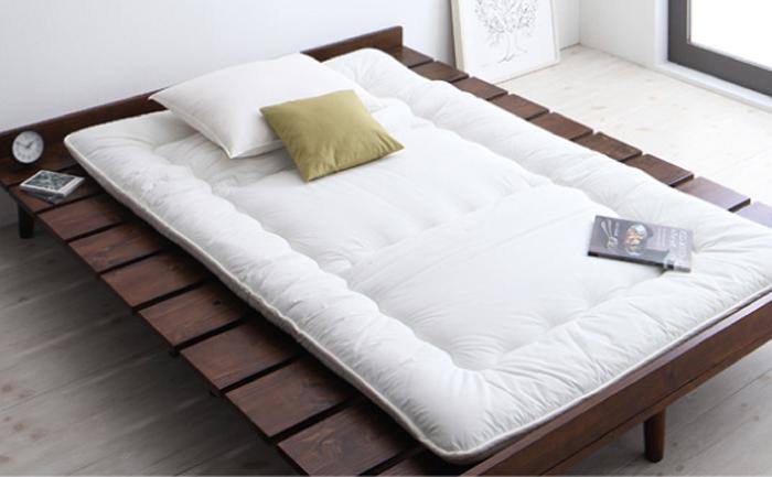 布団でもマットレスでも使用可能なベッドフレーム