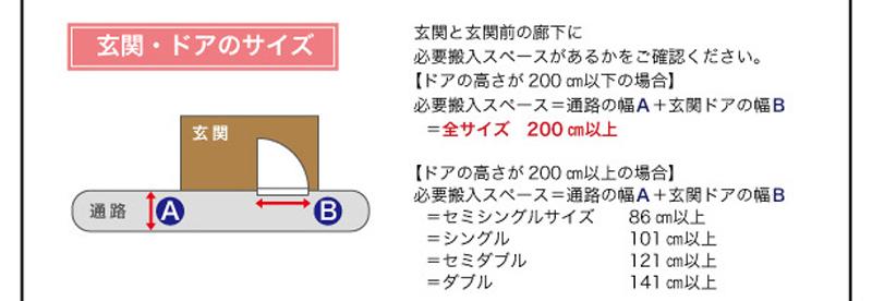 フロアベッド ダブル&ワイドダブル 【Siela】シエラ 配達について