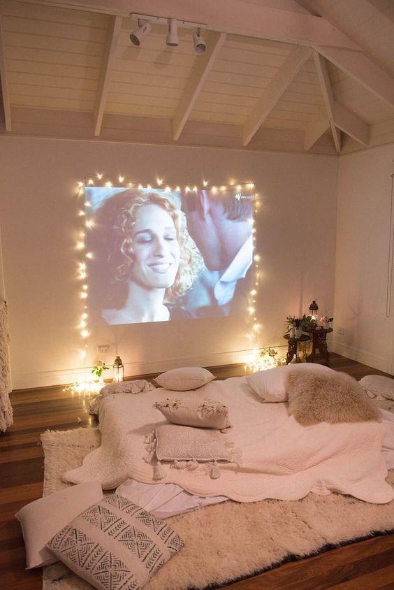 映画館のような寝室
