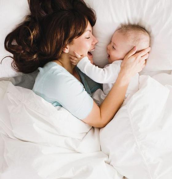 赤ちゃんと一緒