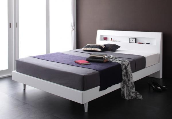 棚・コンセント デザインすのこベッド【Alamode】アラモード