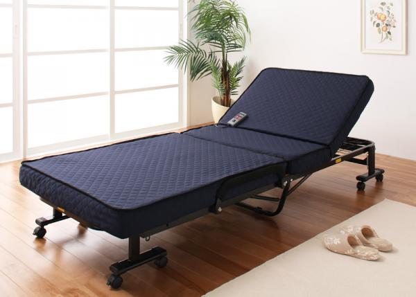 折りたたみベッド 低反発電動リクライニング折りたたみベッド【forto】フォルト