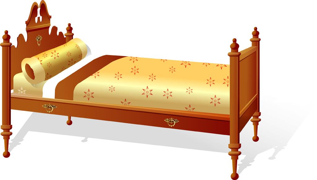 黄金のダブルベッド