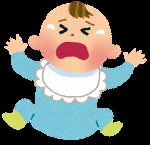赤ちゃんが苦しくて泣く