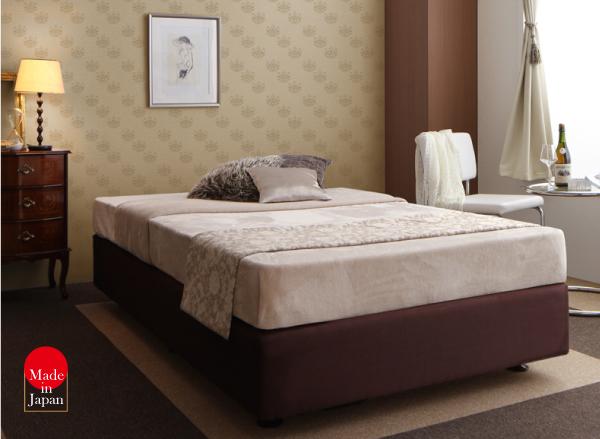 ベッド セミシングル【ボンネルコイルマットレス】ホテル仕様デザインダブルクッションベッド