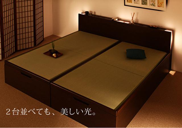 畳ベッドの柔らかい灯でマインドフルネス瞑想