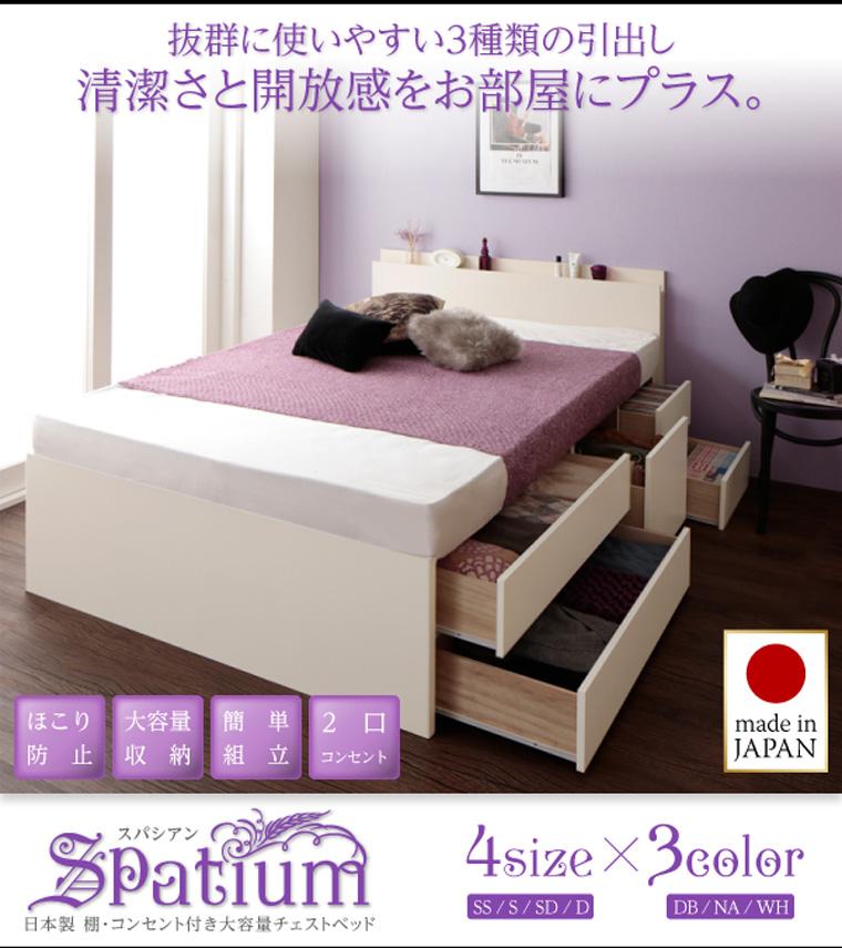 ベッドフレーム〜ホワイト