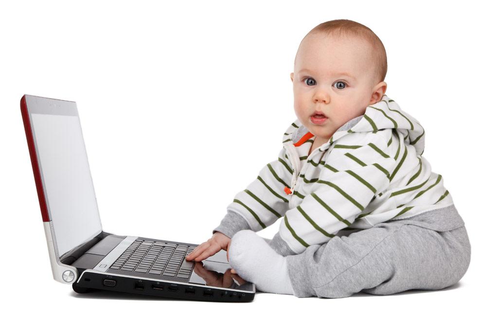 赤ちゃんのいるホームオフィス
